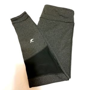 Glyder Charcoal Leggings with Mesh Panel M